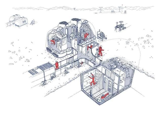 Especialistas em arquitetura polar estão construindo habitat experimental de Marte