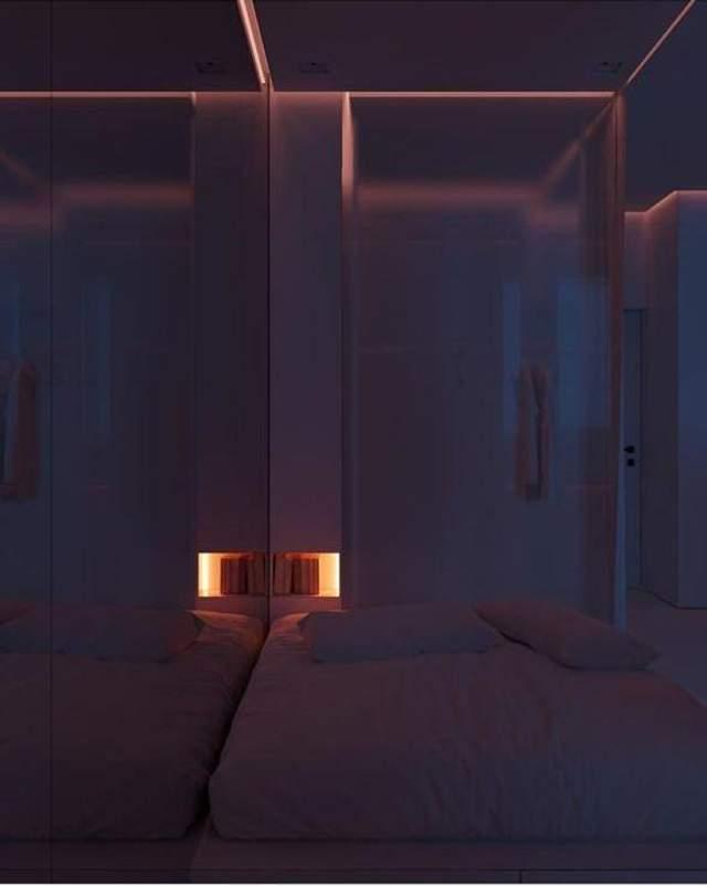 Скрытые источники света в интерьере всегда выглядит стильно