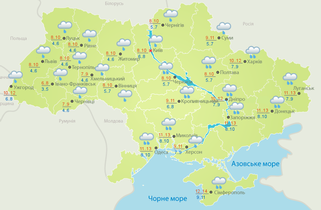 Погода, негода, дощі, тумани, 31 жовтня 2020, Укргідромецентр