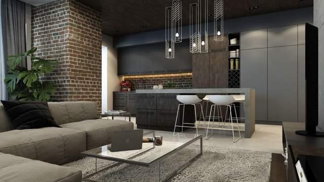 Пример расстановки мебели в стиле «лофт»