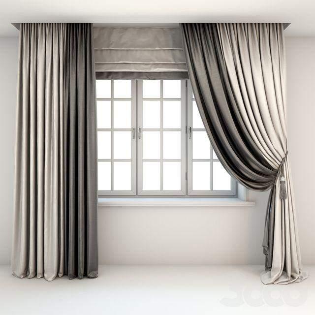 Вариант римских штор в интерьере