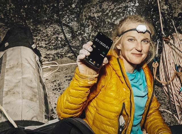 Рекордсменка після проходження маршруту