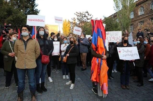 Протестувальники у Вірменії