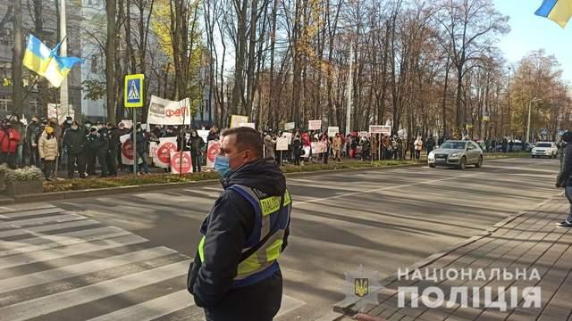 У Харкові на мітинг рестораторів вийшла поліція