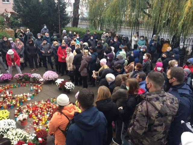 Брест, протест, Білорусь, 15 листопада