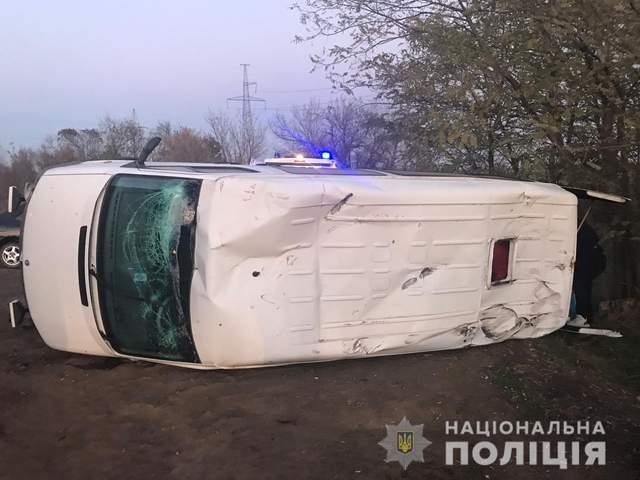 Наслідки ДТП за участі військового тягача на Одещині / Фото Нацполіції