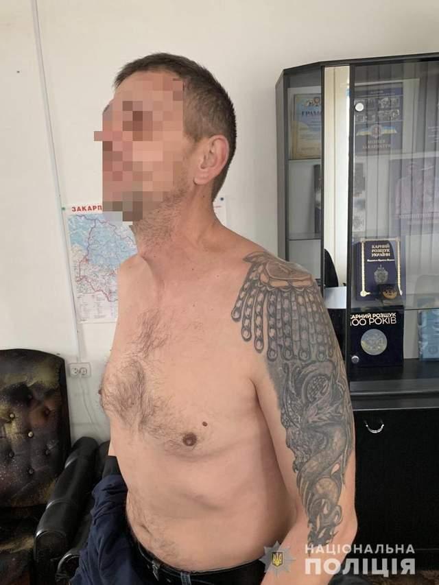 затримання озброєного чоловіка на Закарпатті
