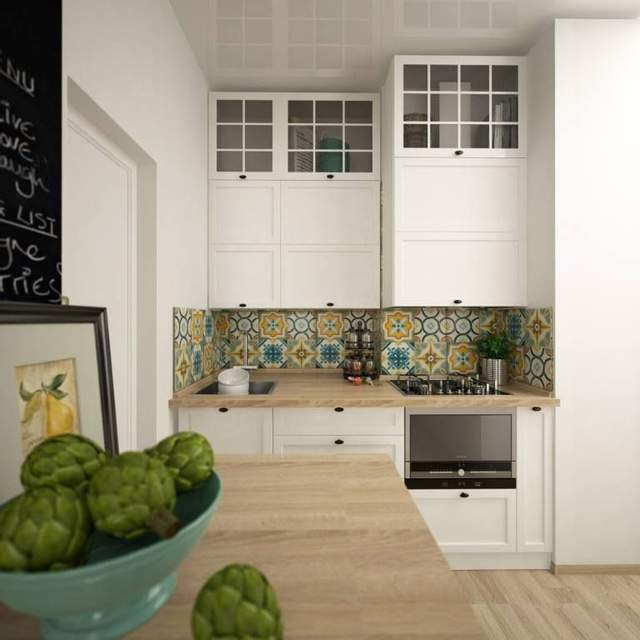 Кухонні меблі білого кольору