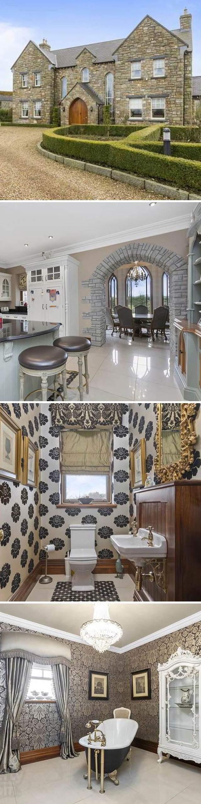 В доме все оформлено стиле современной