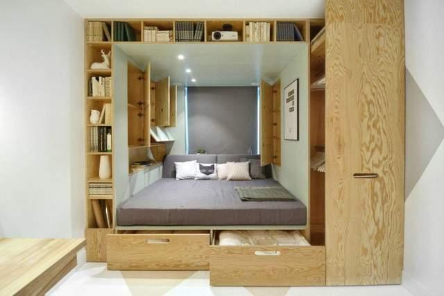 Комната, в которой максимально использовали свободное пространство