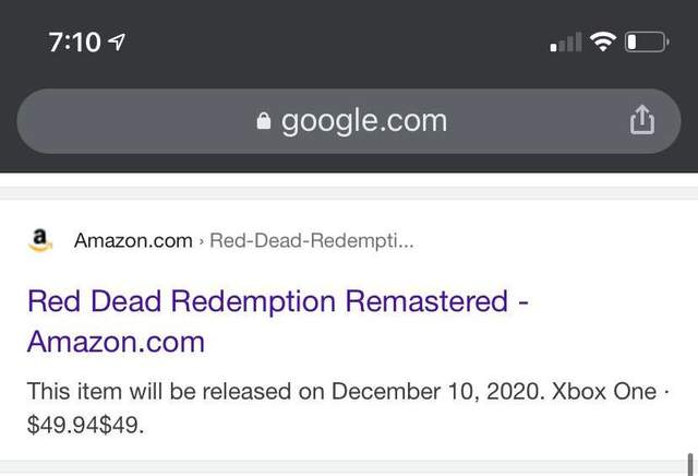 Red Dead Redemption Remastered на Amazon