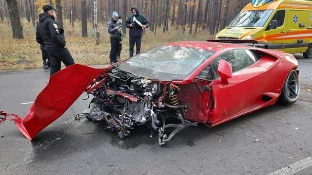 аварія Lamborghini Huracan у Києві