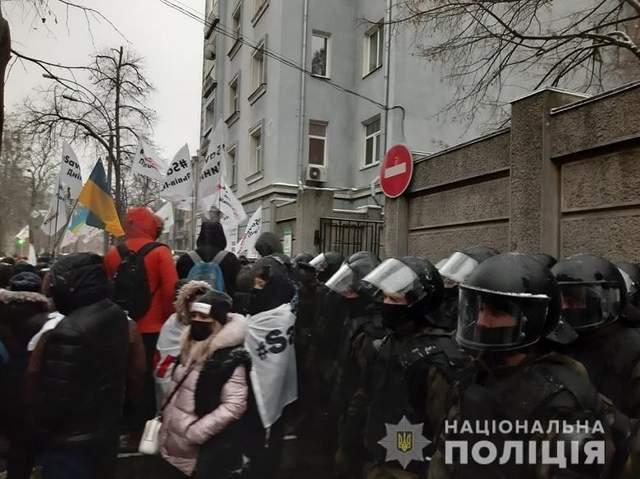 Протести ФОПів, Ради, вечір 1 грудня 2020, поліція