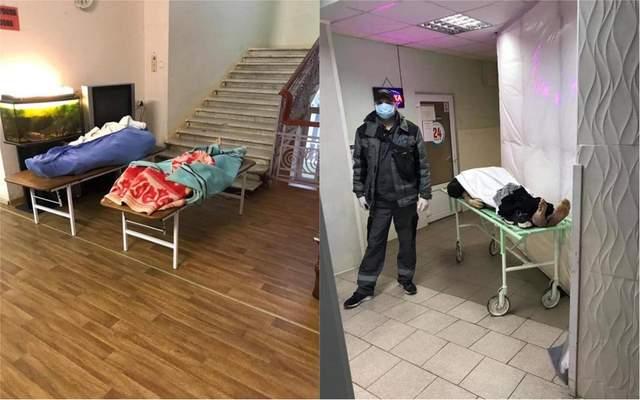Лікарня №5 в Одесі мертві тіла в коридорах коронаіврус фото