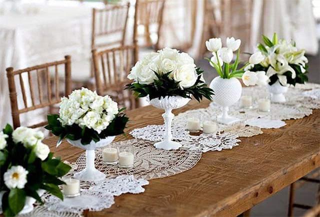 Раннер для свадебного стола