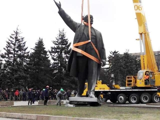 Демонтаж пам'ятника Леніну в Запоріжжі