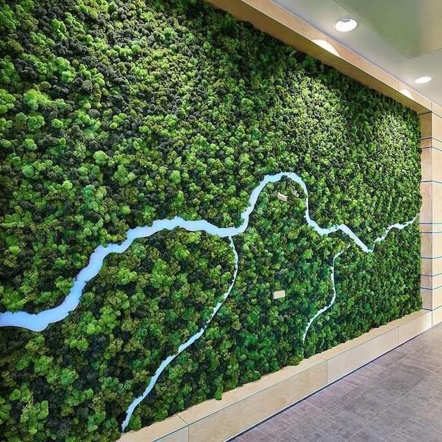 Простий і дуже оригінальний декор стіни