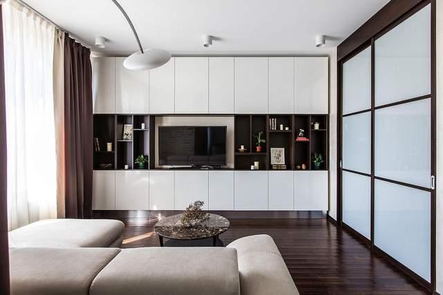Единое пространство в однокомнатной квартире