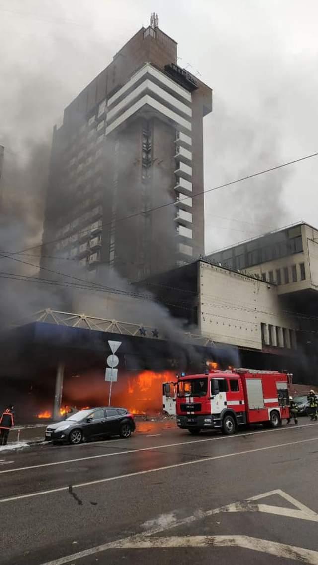 Пожежа у києві на бульварі Шевченка