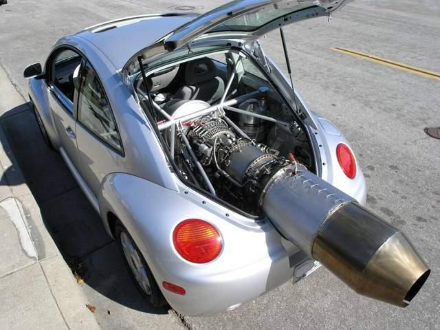 У мережі продають божевільний Volkswagen Beetle з реактивним двигуном на 1350 кінських сил