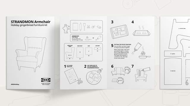 Инструкция к печенью выполнена в общей стилистике IKEA