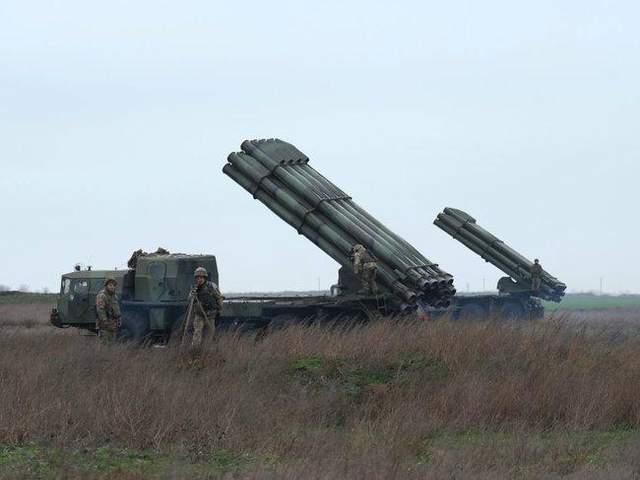 Ракетні підрозділи ЗСУ установка Смерч навчання Херсонщина