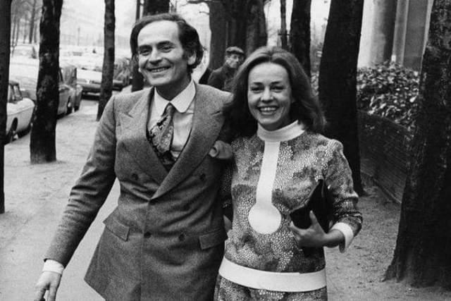 Жанна Моро і П'єр Карден