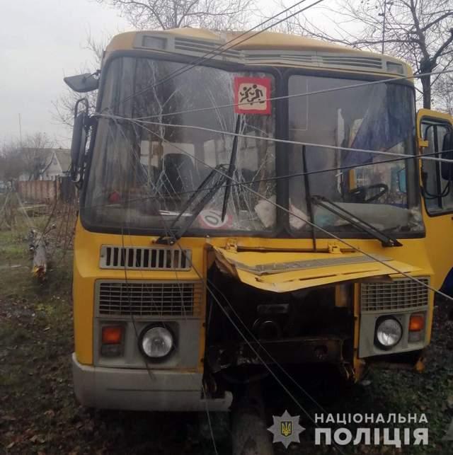 ДТП зі шкільним автобусом на Полтавщині