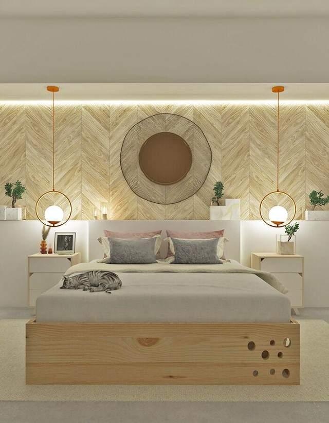 Ліжко постачають у комплекті з двома тумбами та матрацом