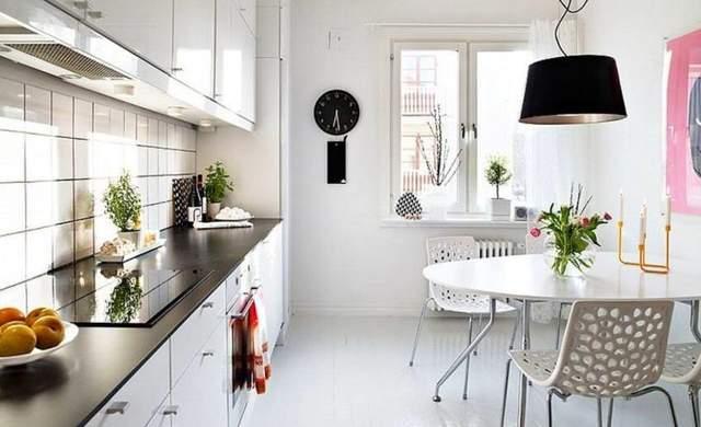 На кухне можно сделать зону для отдыха