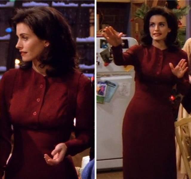 Бордова сукня на Різдво
