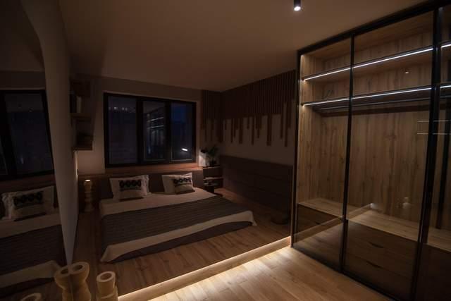 В спальне использовали скрытую подсветку