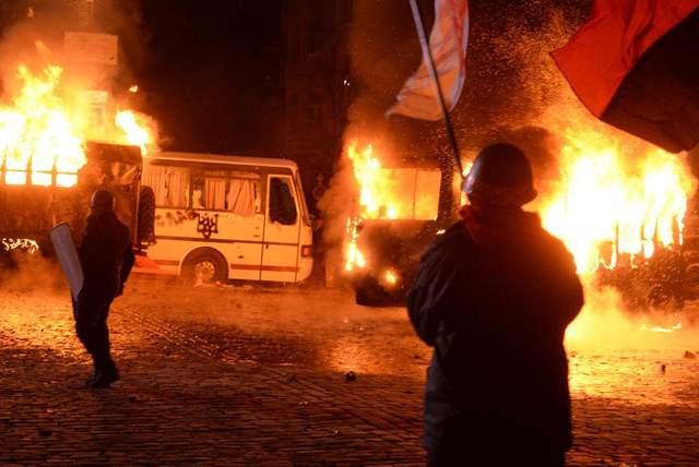 Зіткнення на Грушевського 19 січня 2014 року фото Майдан історія
