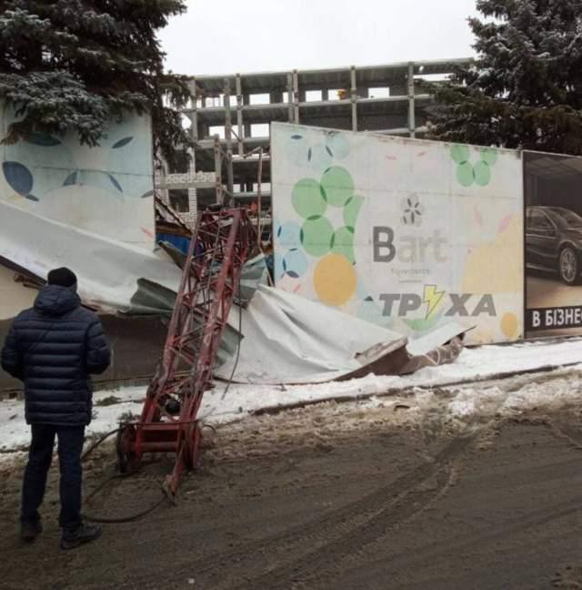 падіння будівельного крану в Харкові