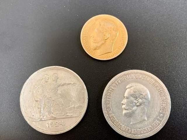 В аеропорту Київ митники виявили старовинні монети з золота та срібла