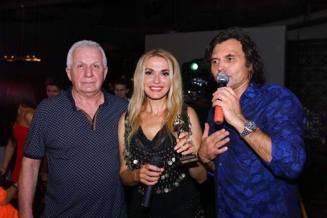 Ольга Сумська з Віталієм Борисюком та ексчоловіком