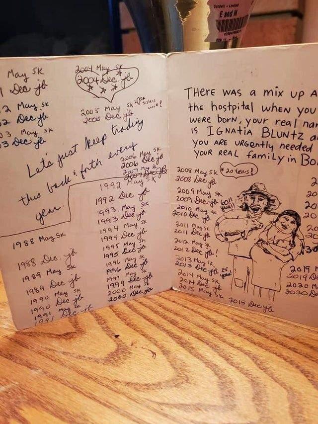 Подарункова листівка, якій вже 32 роки / Reddit