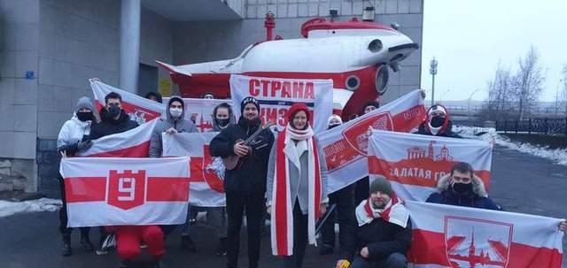 Протести білорусів у Санкт-Петербурзі