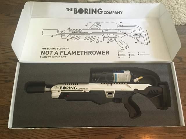 Вогнемет The Boring Company