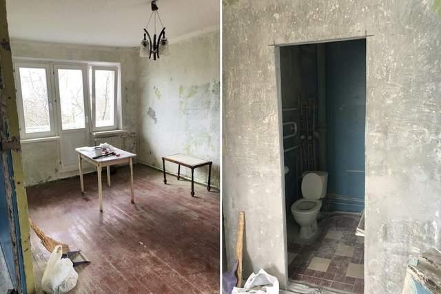 У квартирі був старий і занедбаний ремонт