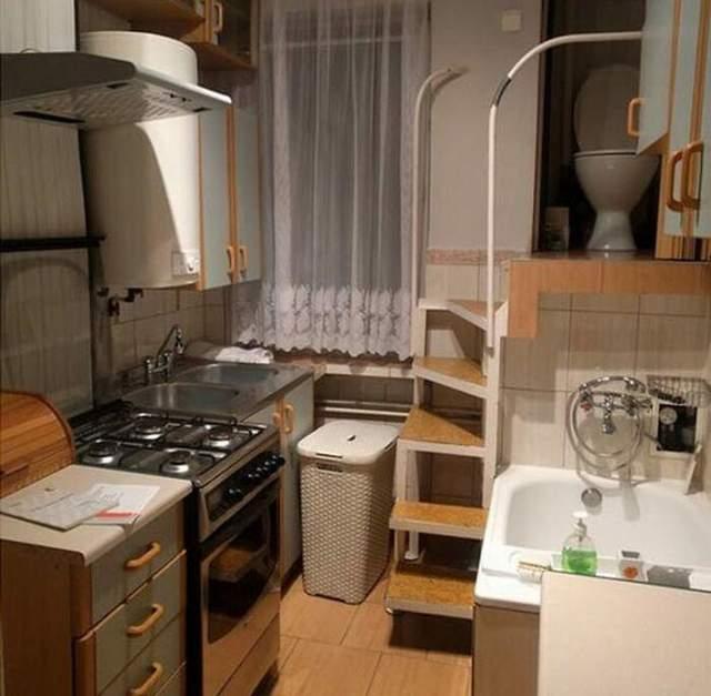 Ариант размещения санузла в маленькой квартире