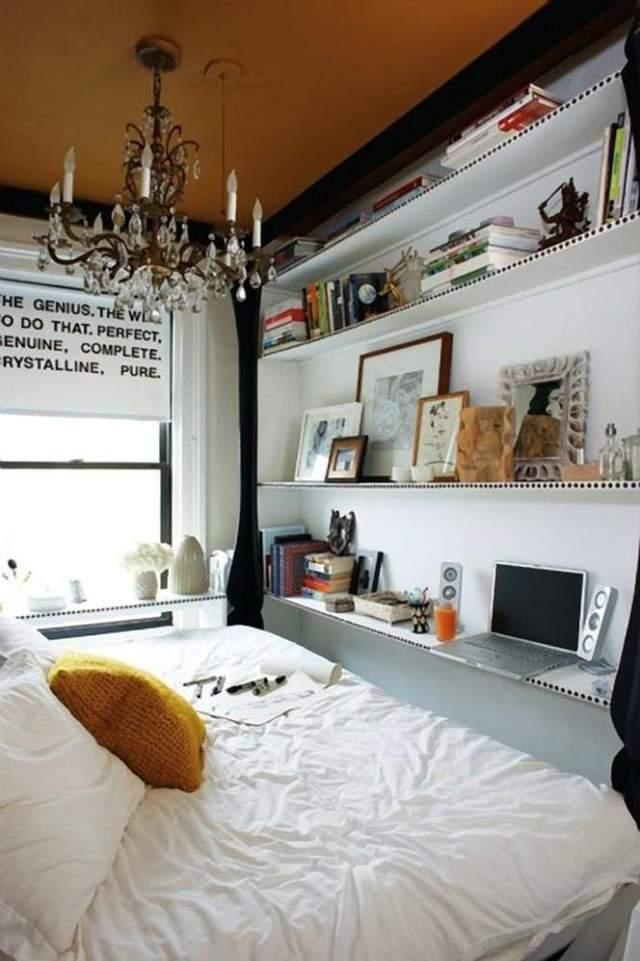 Багатофункціональна стінка, яка займає мало місця / Фото Pinterest