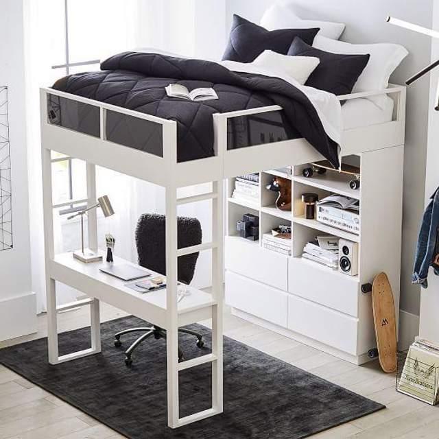 Варіант ліжка із шафою внизу / Фото Pinterest