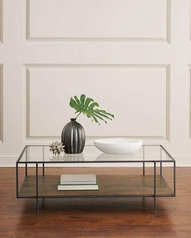 Красивий скляний столик / Фото Pinterest
