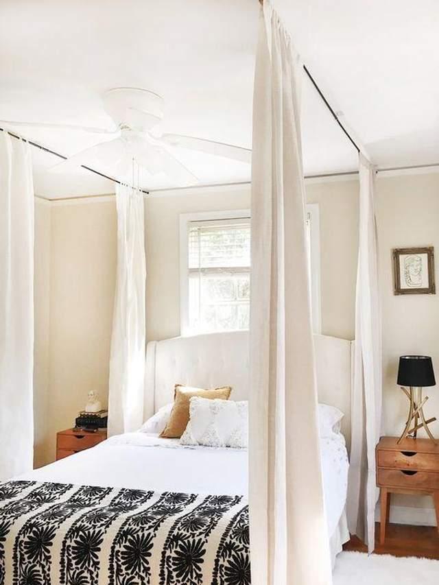 Як відмежувати ліжко / Фото Pinterest