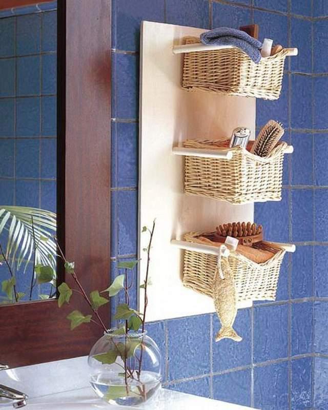 Мініатюрні корзинки для ванної / Фото Pinterest