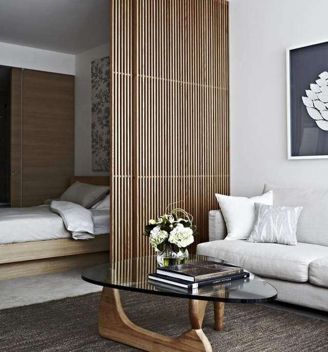 Елегантна перегородка, яка чудово зонує кімнату / Фото Pinterest