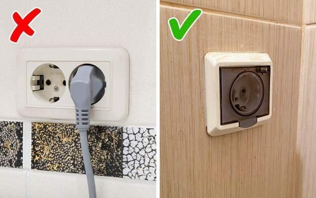 Для ванной комнаты нужно выбирать защищенные розетки