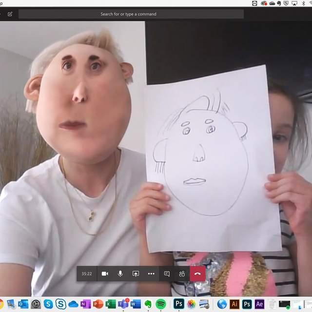дитячий малюнок чоловік