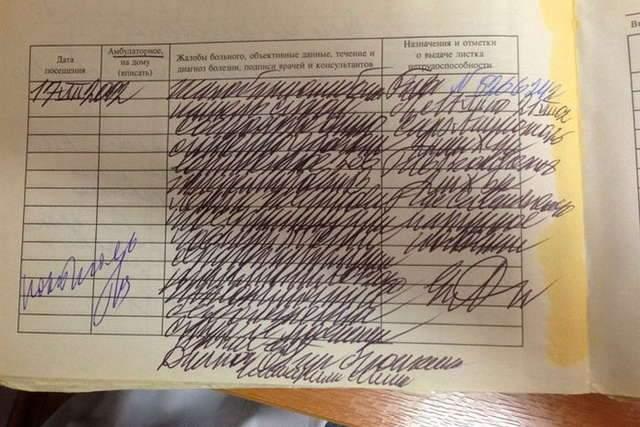 почерк лікаря